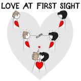 Miłości ilustracja na pierwszy rzut oka ilustracji