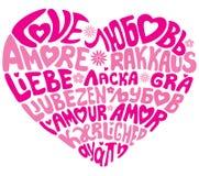 miłości językowa cecha ogólna Obrazy Royalty Free