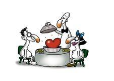 Miłości Jedzenie Fotografia Stock