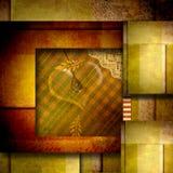 Miłości karciany tło z sercem Zdjęcie Royalty Free