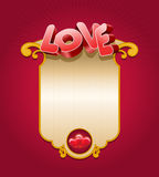 Miłości karta Obrazy Royalty Free