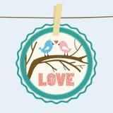 Miłości karta 12 royalty ilustracja