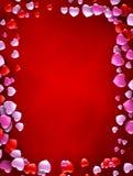 Miłości karta dekorująca z sercami Zdjęcia Royalty Free