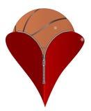 Miłości koszykówka Fotografia Royalty Free