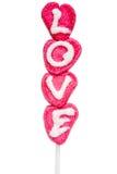Miłości lolly Zdjęcia Stock