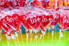 Miłości lollypop Obraz Royalty Free