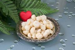 Miłości Macadamia zdjęcie royalty free