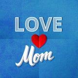 Miłości mamy plakat Zdjęcia Stock