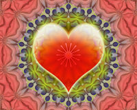 Miłości mandala Obrazy Royalty Free