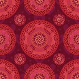 Miłości mandala bezszwowy wzór Zdjęcia Royalty Free