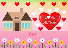 Miłości matki karta Zdjęcie Stock