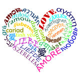 miłości multilanguage miłość Obraz Stock