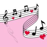 miłości muzyka Zdjęcia Stock