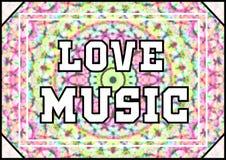 Miłości muzyka Zdjęcia Royalty Free