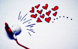Miłości muzyki dźwięki Fotografia Stock