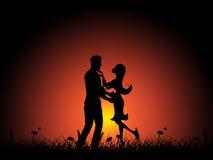 Miłości noc Wskazuje adoracja chłopaka I czułość ilustracja wektor