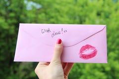 miłości notatka Zdjęcie Stock
