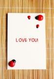 miłości notatka ty Zdjęcia Stock