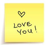miłości notatka ty Obraz Stock