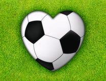 miłości piłka nożna Obraz Royalty Free
