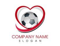Miłości piłki nożnej logo Zdjęcia Royalty Free