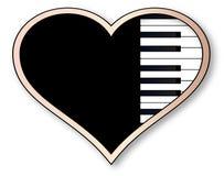 Miłości pianino Zdjęcia Stock