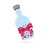 Miłości pigułki butelka Obraz Royalty Free
