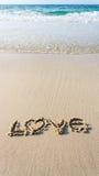 Miłości plaża Obraz Royalty Free