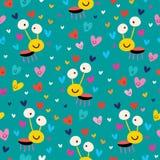 Miłości pluskwy bezszwowy wzór Zdjęcia Royalty Free