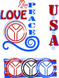 miłości pokoju symbole Obraz Stock