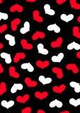 Miłości powtórki kierowy wzór. Obrazy Royalty Free