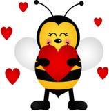 Miłości pszczoła Zdjęcia Royalty Free