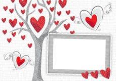 miłości ramowy drzewo Zdjęcie Royalty Free