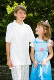 miłości rodzeństwo Obrazy Royalty Free
