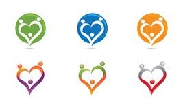 Miłości rodziny logo Fotografia Stock