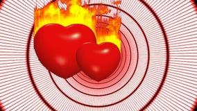 Miłości romantyczna walentynki naturalna royalty ilustracja