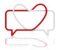 Miłości rozmowa royalty ilustracja