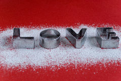 miłości słowo Fotografia Stock