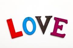 miłości słowo Fotografia Royalty Free