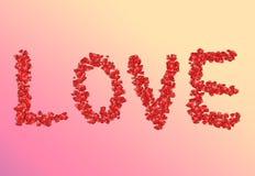 miłości słowo ilustracja wektor