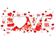Miłości słowo Reprezentuje adoracja romans I serce ilustracji