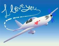 miłości samolotu ślad Fotografia Stock