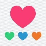 Miłości serca ikona ilustracji