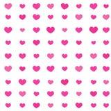 Miłości serca wzór Dla Ten walentynki ` s dnia wydarzenia, Śliczny Różowy tło ilustracja wektor