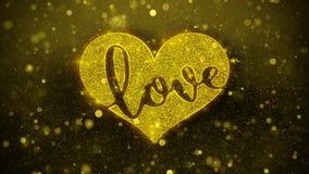 Miłości serce Życzy powitanie kartę, zaproszenie, świętowanie fajerwerk royalty ilustracja