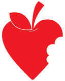 Miłości serce Apple Obraz Stock