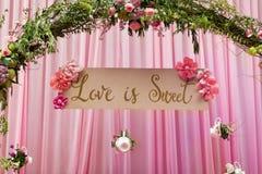 miłości siatki znaka wektor Zdjęcie Royalty Free