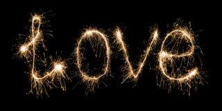 Miłości sparkler obraz royalty free