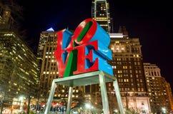 Miłości statua w miłość parku Filadelfia Fotografia Stock