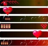 Miłości sztandaru set Zdjęcie Stock